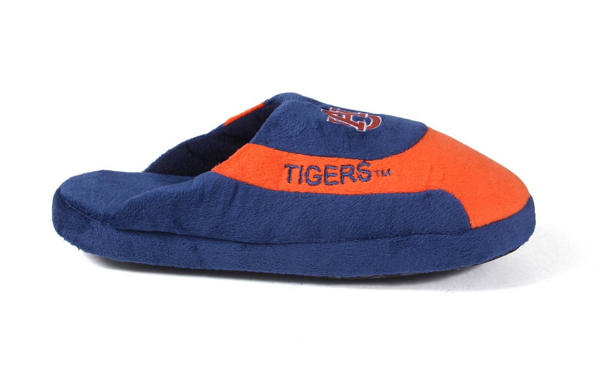 3af30c910 Happy Feet Mens and Womens Auburn Tigers - NCAA Low Pro Slippers - Large
