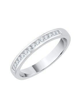 4e68ba7ce Product Image Channel Set Diamond Wedding Band in Sterling Silver (1/6 cttw,  G-H,