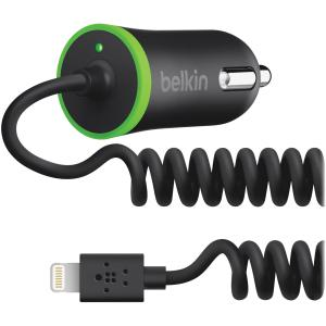 Belkin Auto Adapter - 2.10 A Output Current 10W W/ 4WRD LIGHTNING CBLE BLK