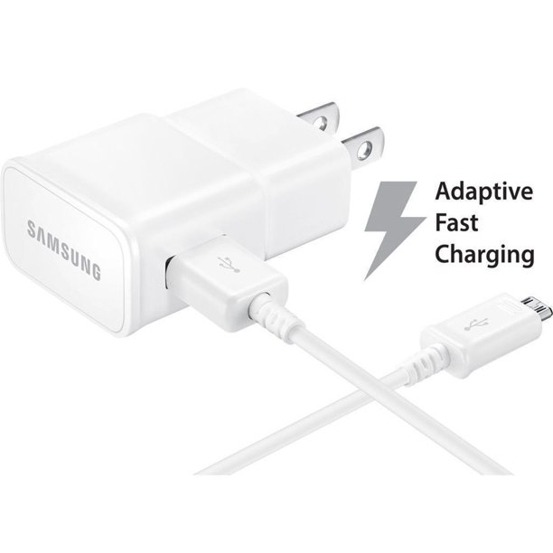 Samsung Galaxy S7 Adaptive Fast Charger Micro Usb 2 0 Cable Kit 1 Wall Charger 5 Ft Micro Usb Cable Adaptive Fast Charging Uses Dual Voltages For Up To 50 Faster Charging Walmart Com Walmart Com
