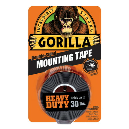 - Gorilla Heavy Duty Mounting Tape Black, 1
