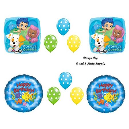 NEW Bubble Guppies Mr. Grouper Birthday Party Balloons Decorations Supplies](Bubble Guppie Balloons)