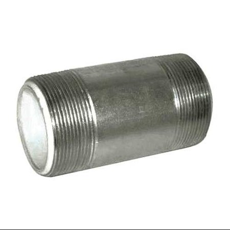Value Brand 3/4  x 2  MNPT Galvanized Steel Dielectric Nipple, 4PFY9 In addition to galvanized pipes, Zoro also carries galvanized pipe fittings and other plumbing supplies. Here is some additional information about Zoro Select Galvanized Steel Dielectric Nipple. Pipe Type:  Pipe Nipple, Overall Pipe Length:  2 , Pipe Schedule:  40.FeaturesItem: Dielectric NippleBasic Pipe Fitting Material: MetalPipe Schedule: 40Pipe Fitting Connection Type: MNPT x MNPTPipe Fitting Schedule/Class: Schedule 40Max. Pressure: 150 psi @ 200 Degrees FPipe Fitting Material: Galvanized SteelStandards: ASTM A-53, ANSI B1.20.1Pipe Connection Type: Threaded on Both EndsPipe Size (Nominal): 3/4 Pipe Type: Pipe NipplePipe Thread Type: MNPT x MNPTOverall Pipe Length: 2 Pipe Size (Fittings): 3/4 Specific Pipe Fitting Shape: NippleBasic Pipe Fitting Shape: NippleMetal Detectable: YesPipe Size - Nominal: 3/4 Material - Pipe: Non-Alloy Steel and PEX