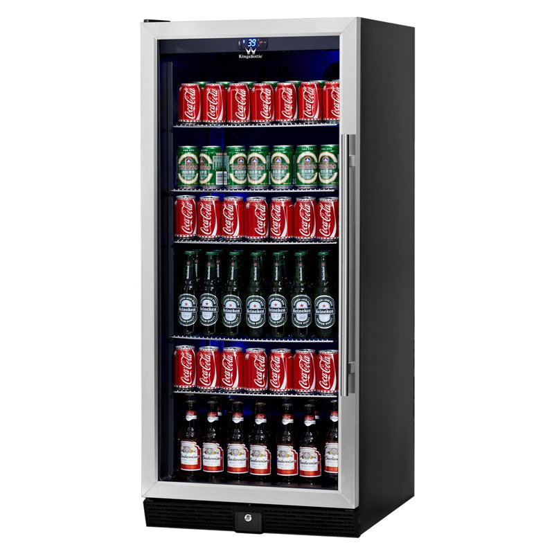 300-Can Beverage Fridge, Silver
