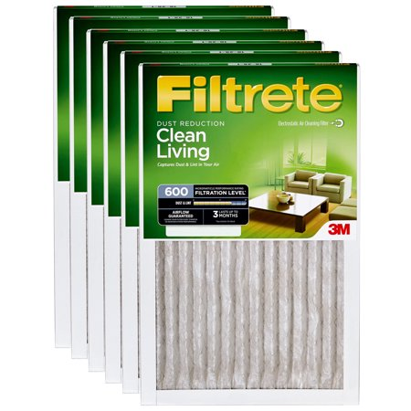 3M Filtrete 12x20x1 Dust and Pollen Air Filter (6-Pack)