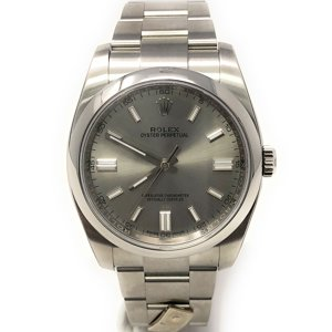 Rolex Oyster Perpetual 116000 Silver Stick dial and a Stainless Steel Smooth Bezel (Certified Pre-Owned)