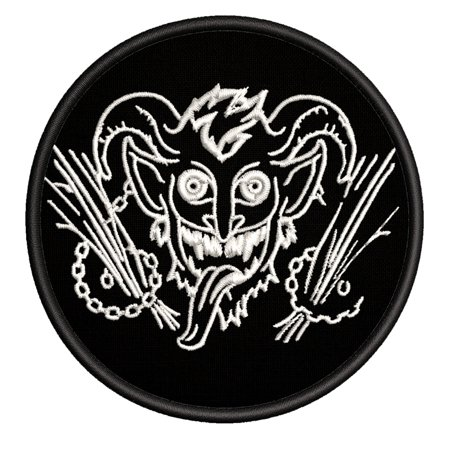 Krampus Embroidered DIY Iron on or Sew-on Decorative Patch Badge Emblem Appliques Holiday Stocking Christmas Series ()