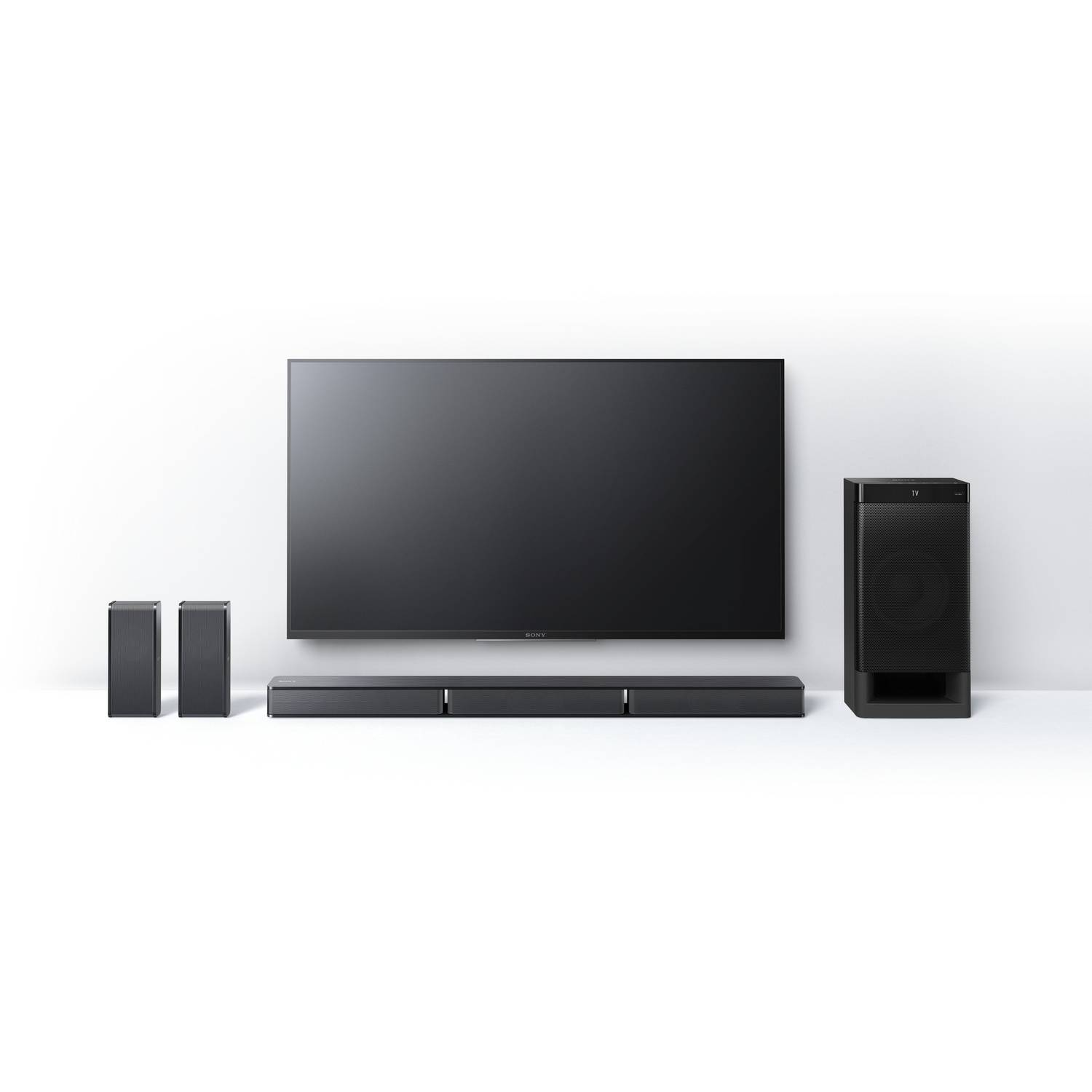Refurbished Sony Htrt3 51 Channel Home Theater Sound Bar With Basic Diagram Of Speaker Setup For Surround Subwoofer And Bluetooth