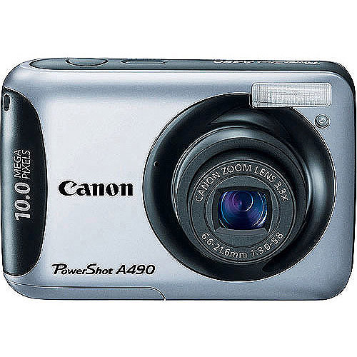 Canon PowerShot A490 Silver 10 MP Digital Camera, 3.3 Opt...