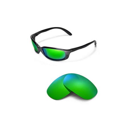 3bc7b50688f32 Walleva - Walleva Emerald Polarized Replacement Lenses for Costa Del Mar  Brine Sunglasses - Walmart.com
