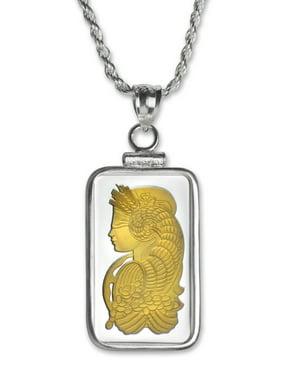 10 gram Silver - Gilded Fortuna Pendant (w/Chain)