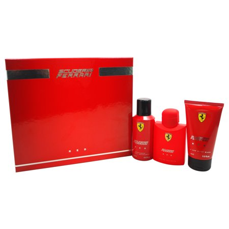 Ferrari Red by Ferrari for Men - 3 Pc Gift Set 4.2oz EDT Spray, 5oz Hair and Body Wash, 5oz Deodorant Spray