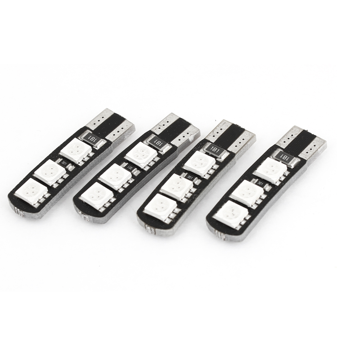 Unique Bargains 4 x 6 Red 5050 SMD LED T10 W5W Car Canbus Error Free Light Lamp