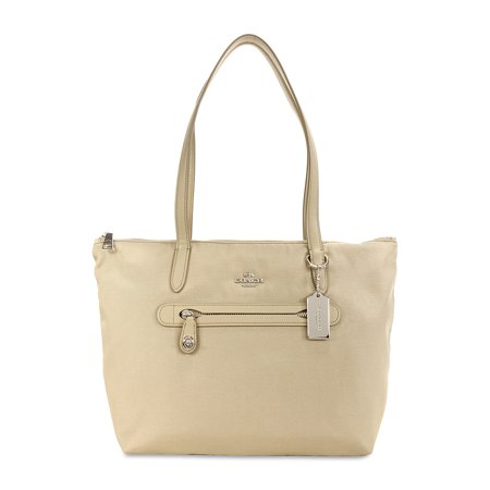 Coach Nylon Zip Tote   Silver Putty