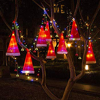 Christmas Decorations Outdoor 8pcs Hanging Lighted Glowing