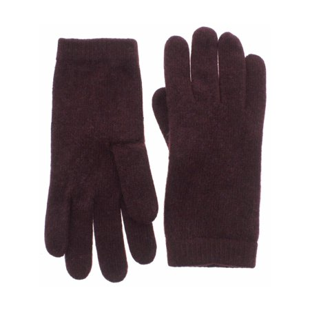 Portolano Womens 100% Cashmere Classic Winter Gloves