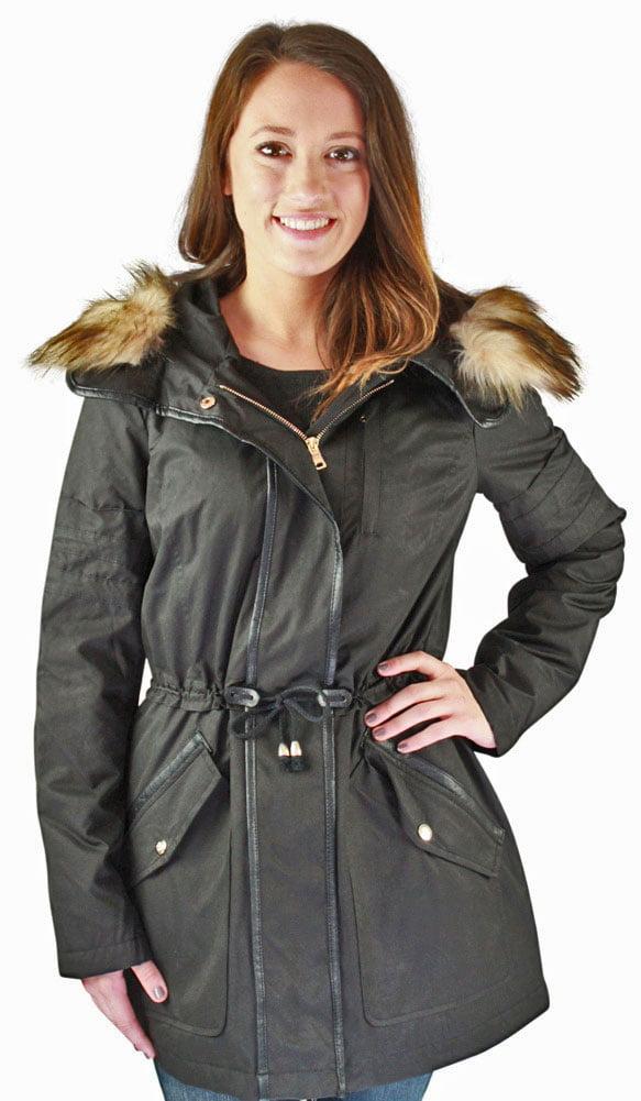Jessica Simpson Anorak Women's Hooded Parka Winter Coat Faux Fur by