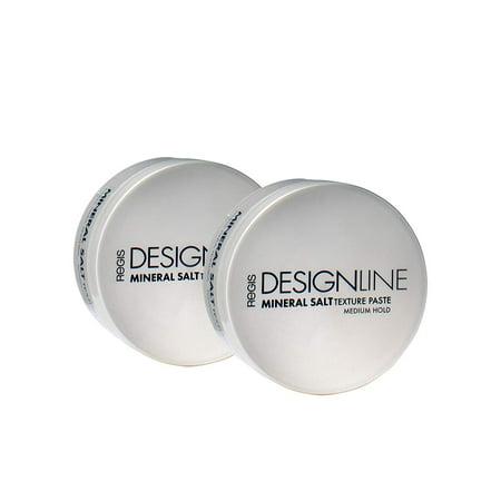Mineral Salt Texture Paste, 2 oz - Regis DESIGNLINE - Ultimate Multi-Tasking Styling Paste with Semi-Matte Finish for Damp, Dry, Long, or Short Hair (2 oz (2 (Semi Paste)
