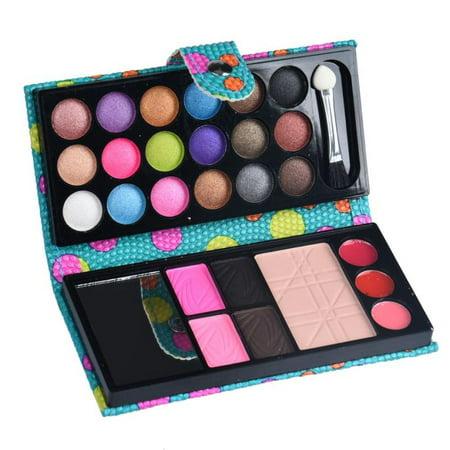 iLH Mallroom 26Colors Makeup Palette Cosmetic Eyeshadow Blush Lip Gloss Powder (Hotcoat Powder Gloss)
