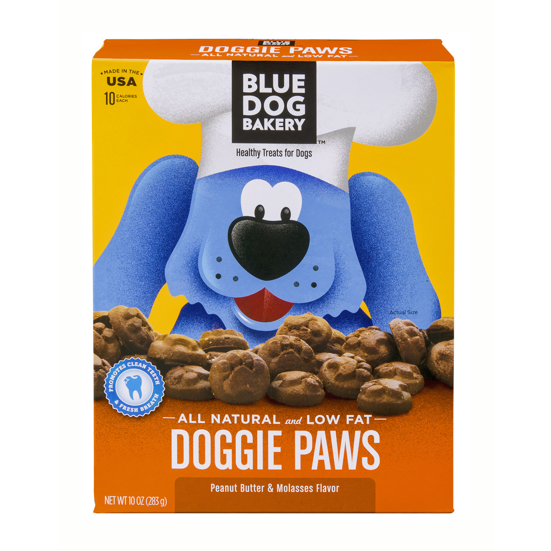 Blue Dog Bakery Doggie Paws Peanut Butter Flavor