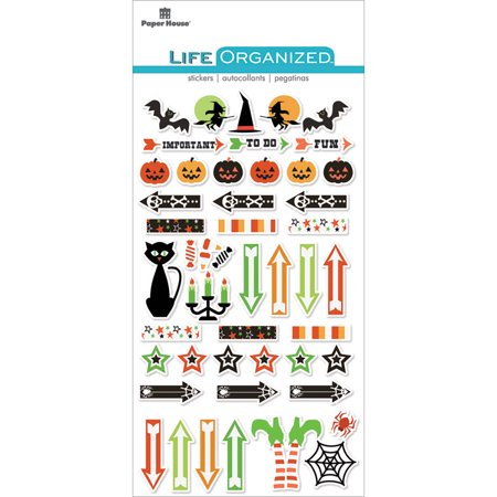 Paper House Life Organized Epoxy Stickers 6.5
