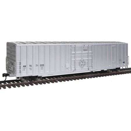Walthers Proto HO Scale 60' Gunderson Express Boxcar - Amtrak (Silver) #71033 (Amtrak Express Train)