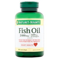 Product Image Nature's Bounty Fish Oil Omega-3 Softgels, 2400 Mg + 1200 Mg Omega-