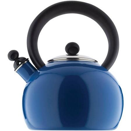 Copco Bella Enamel-on-Steel Blue 2qt Tea Kettle (Blue Stainless Steel Tea Kettle)