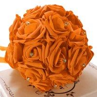 17 Head Artificial Flower Fake Rose Bouquet Silk Artificial Rose Bridal Wedding Party Bridal Bouquet Home Garden Party Wedding Decoration