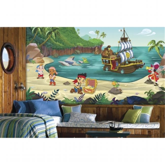 Room Mates JL1307M Jake And The Never Land Pirates XL Chair Rail Prepasted Mural
