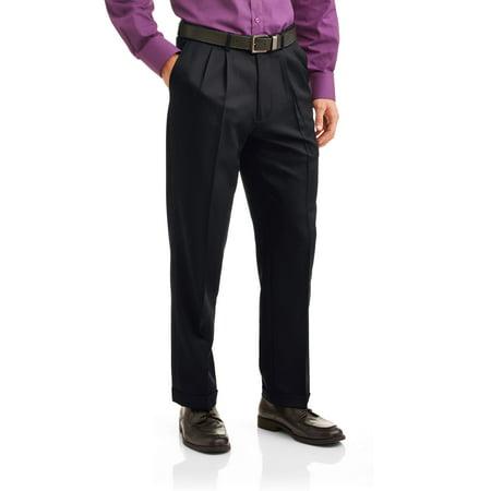 3 Piece Dress Pants - George Men's Microfiber Performance Pleated Dress Pant