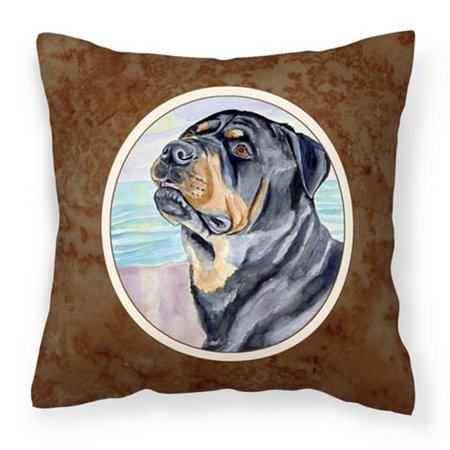 Carolines Treasures 7107PW1414 Rottweiler Fabric Decorative Pillow - image 1 de 1