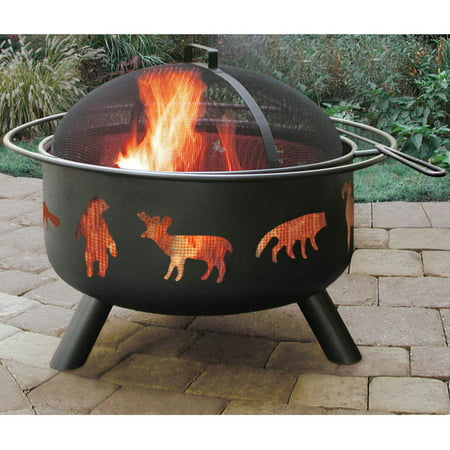 Landmann Fire Pits (Landmann Big Sky Fire Pit, Wildlife, Black)