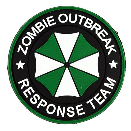 LIVABIT PVC Rubber 3D Morale Patch MP-54 Tactical Airsoft Paintball Umbrella Corp Zombie Outbreak Response Team Green](Halloween Zombie Paintball Washington)