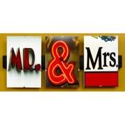 Language Art Mr and Mrs by Greg and Dilynn Puckett Textual Art in Brown