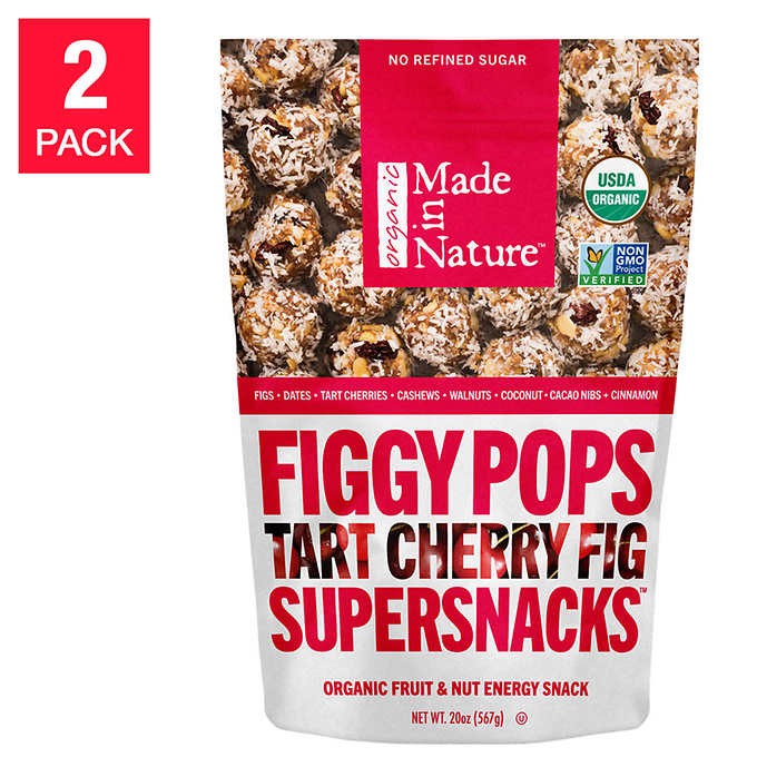 Figgy Pops Organic Tart Cherry Fig 20 Oz, 2-Pack