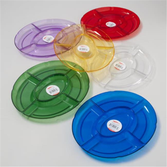 DDI 1909743 Oval Tray 5 Section, 12. 5 x 9. 75 - 6 Colors