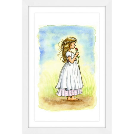 Marmont Hill  Rose Girl  By Phyllis Harris Framed Painting Print
