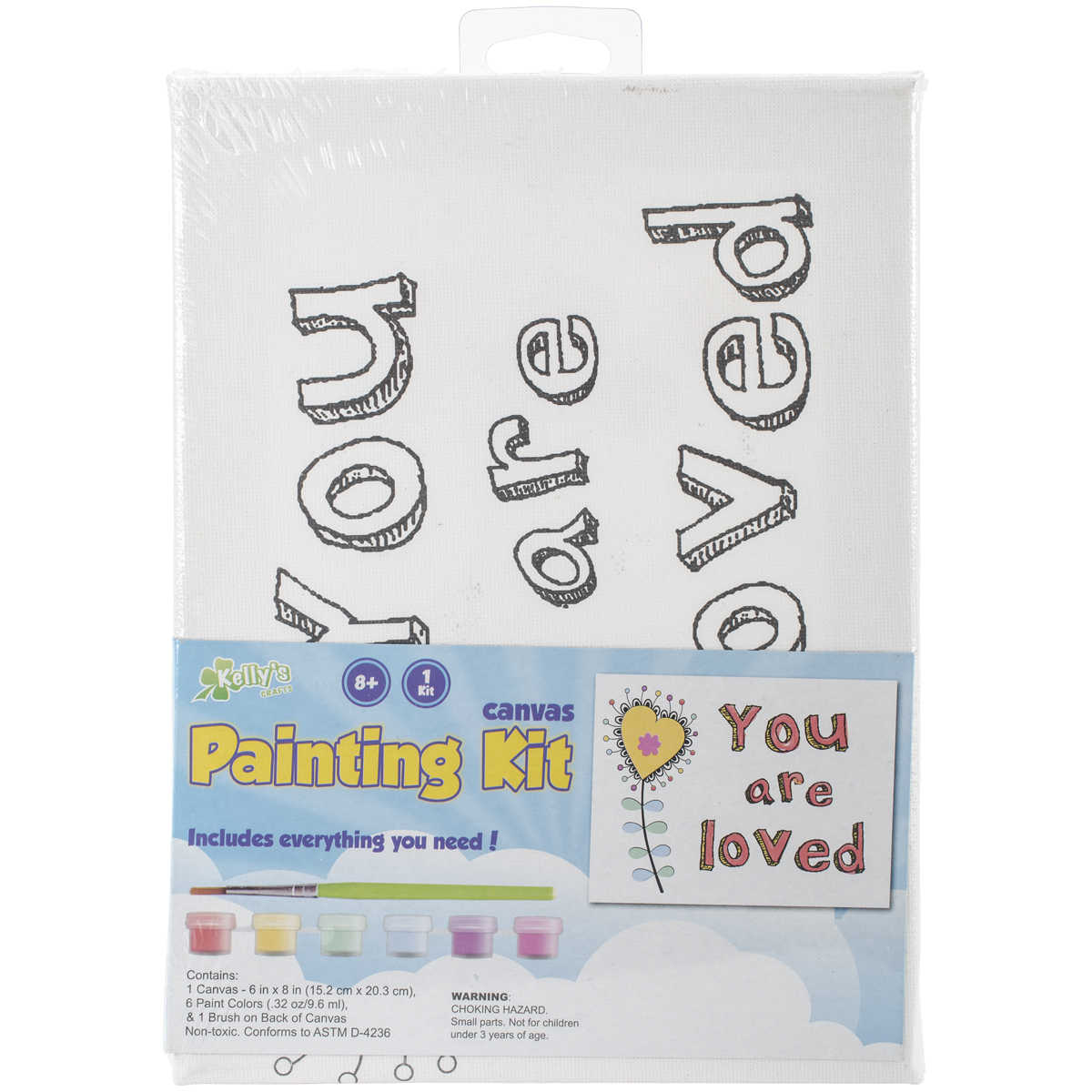 "CP Stretched Canvas and Paint Kit 6""x8""-You Are Loved"