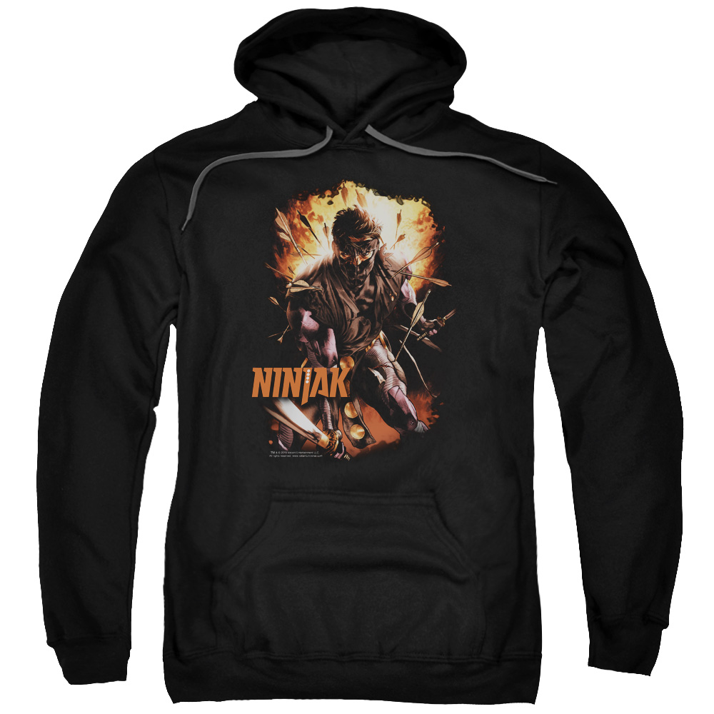 Ninjak/Fiery Ninjak Adult Pull Over Hoodie Black  Val191