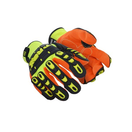 Magid T-REX Hi-Viz Impact Gloves XL, Pair - T Rex Gloves