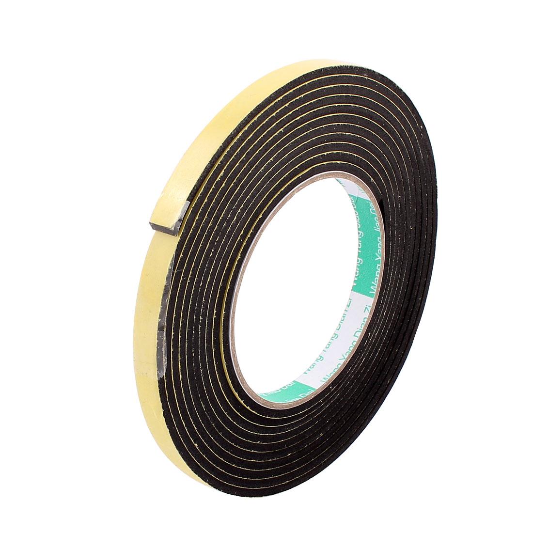 Black EVA 1CM Wide 4M Length 3MM Thick Single Sided Shockproof Sponge Tape