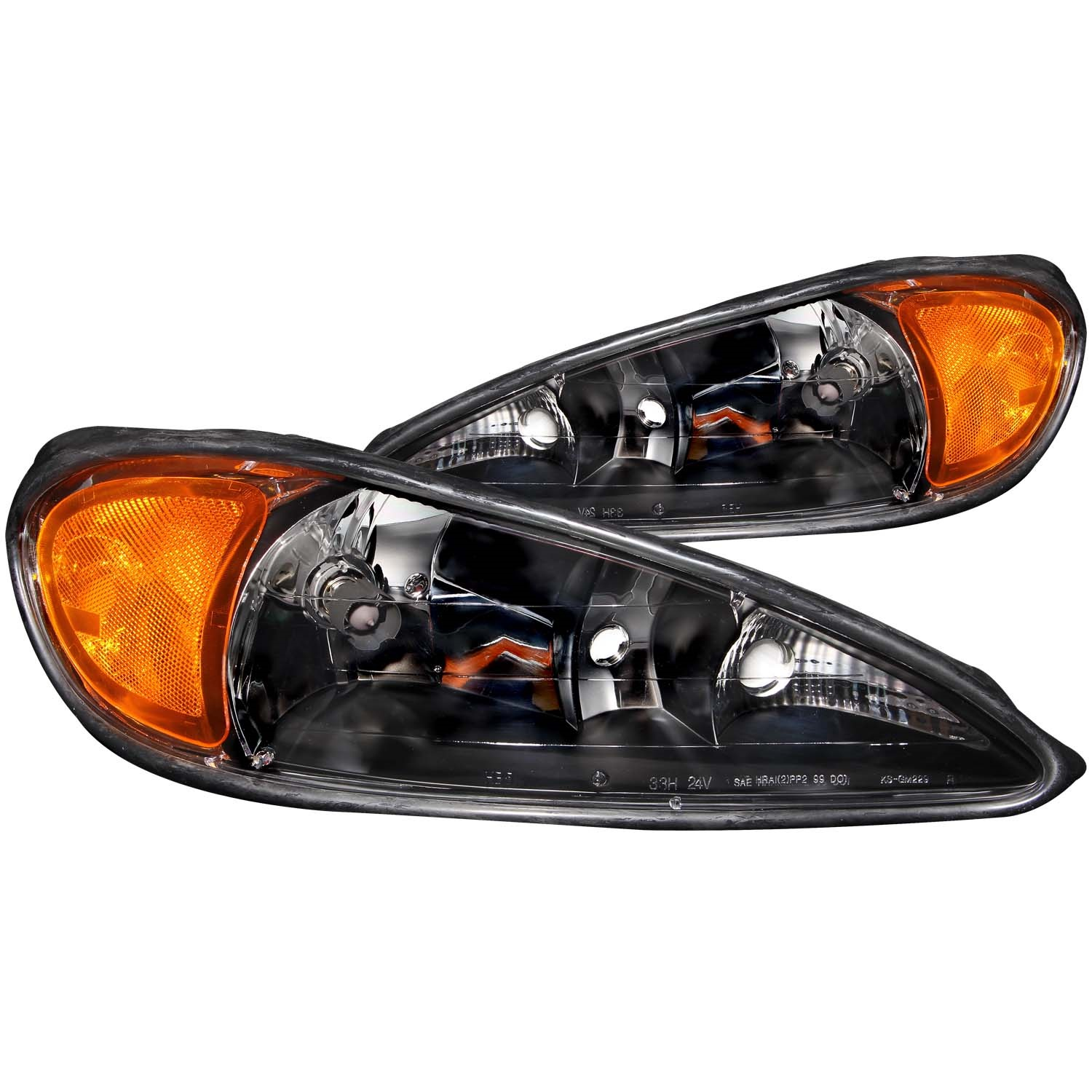 Anzo USA 121116 Crystal Headlight Set Fits 99-05 Grand Am