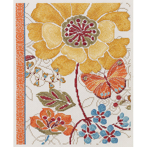 Spiced Bouquet Counted Cross Stitch Kit-8 Inch X 10 Inch 14 Count
