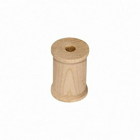 MyCraftSupplies Unfinished Wood Spools 1 x 3/4 inch Set of 25 Made in the USA