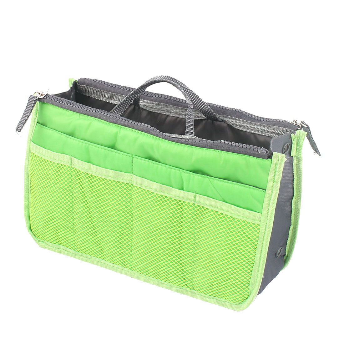 Outdoor Portable Cosmetic Storage Handbag Tote Insert Pouch Green