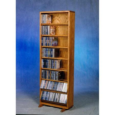 The Wood Shed Solid Oak Dowel 336 CD Media Cabinet