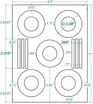 "CheckOutStore Compulabel 312838 3"" Mini CD / DVD Labels (..."