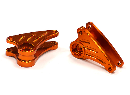 Integy RC Toy Model Hop-ups T3435ORANGE Billet Machined Front Rocker Arms for 1 16 Traxxas... by Integy
