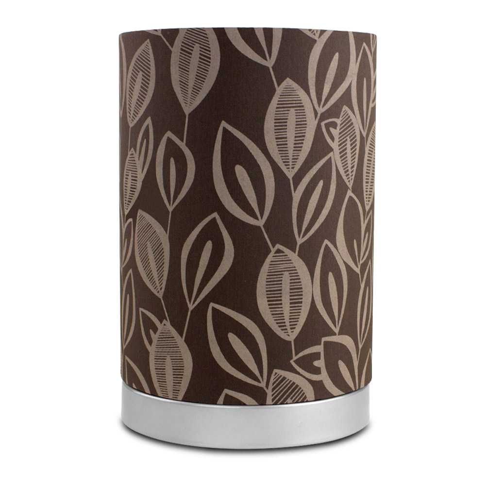 Mainstays Leaf Fabric Uplight Lamp with Light Bulb